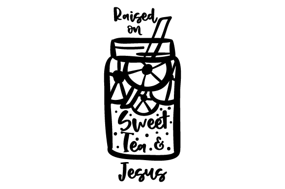 Download Free Raised On Sweet Tea And Jesus Svg Cut File By Creative Fabrica for Cricut Explore, Silhouette and other cutting machines.