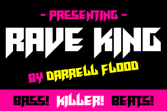 Print on Demand: Rave King Display Font By Dadiomouse