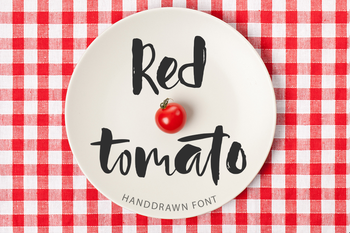 Red Tomato Font By Red Ink