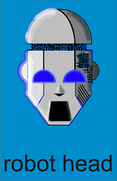 Robot Head Graphic By Gustavo Lucero