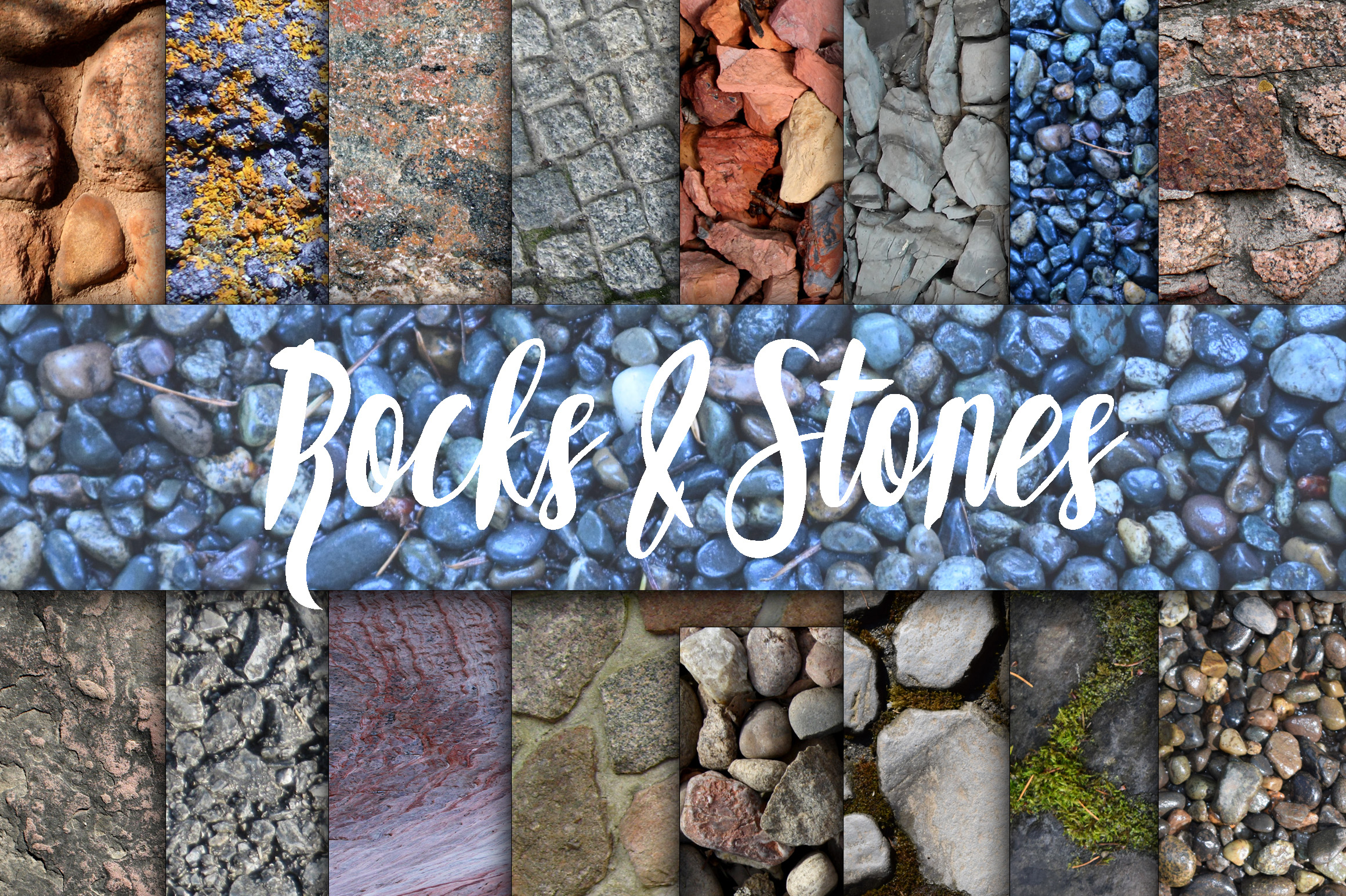 Rock and Stone Textures Digital Paper Gráfico Fondos Por oldmarketdesigns