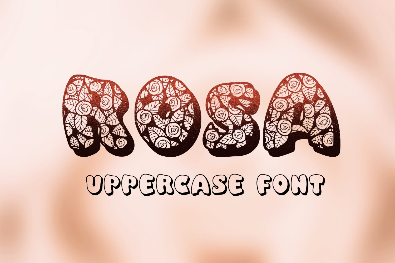 Print on Demand: Rosa Decorative Font By Eva Barabasne Olasz