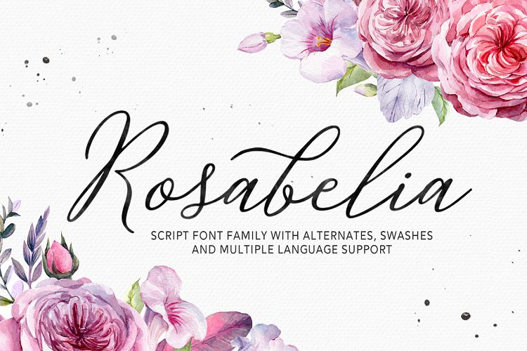 Print on Demand: Rosabelia Script & Handwritten Font By Solidtype