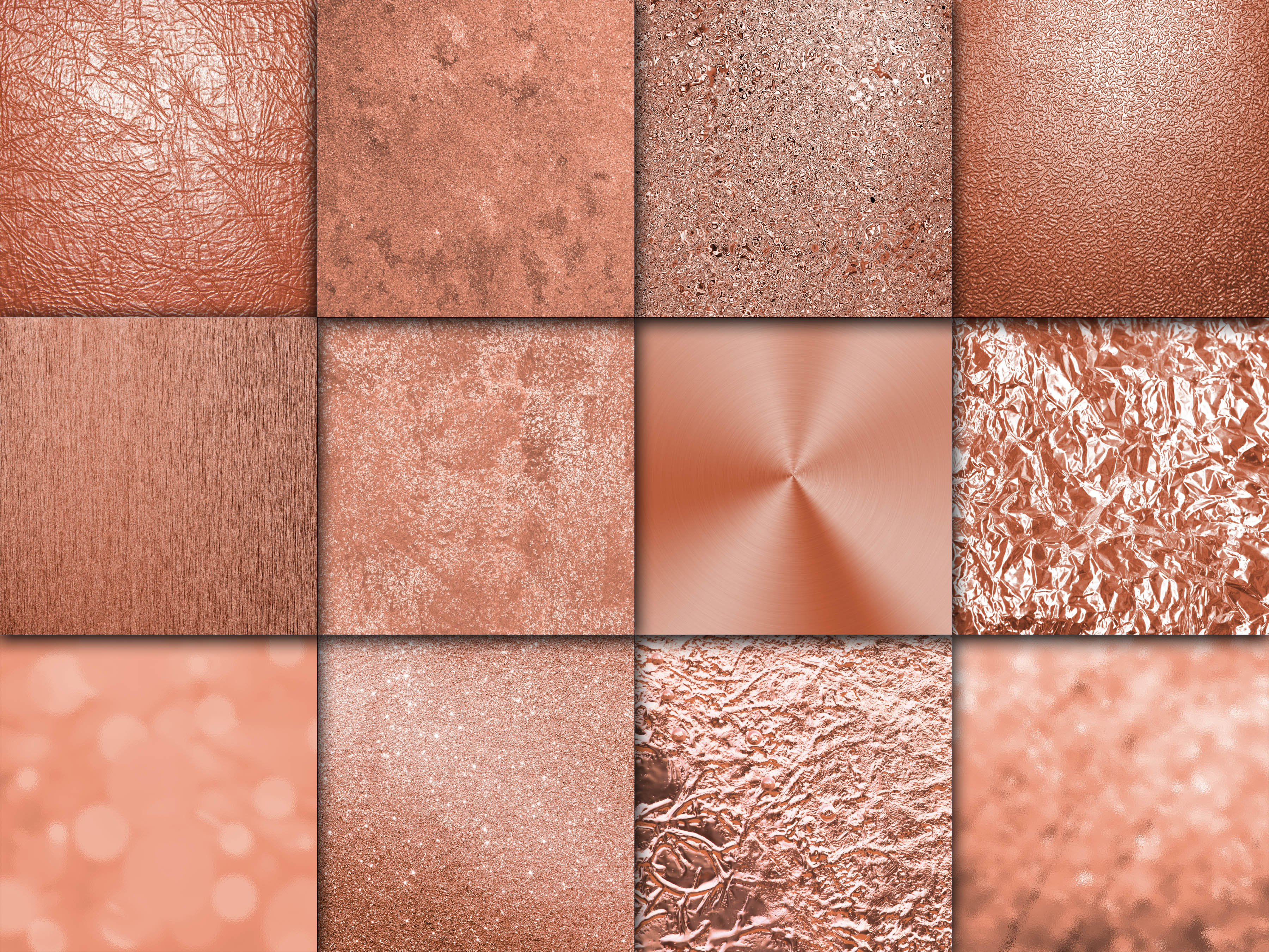 Rose Gold - Gold Digital Paper Textures Graphic Backgrounds By oldmarketdesigns - Image 2