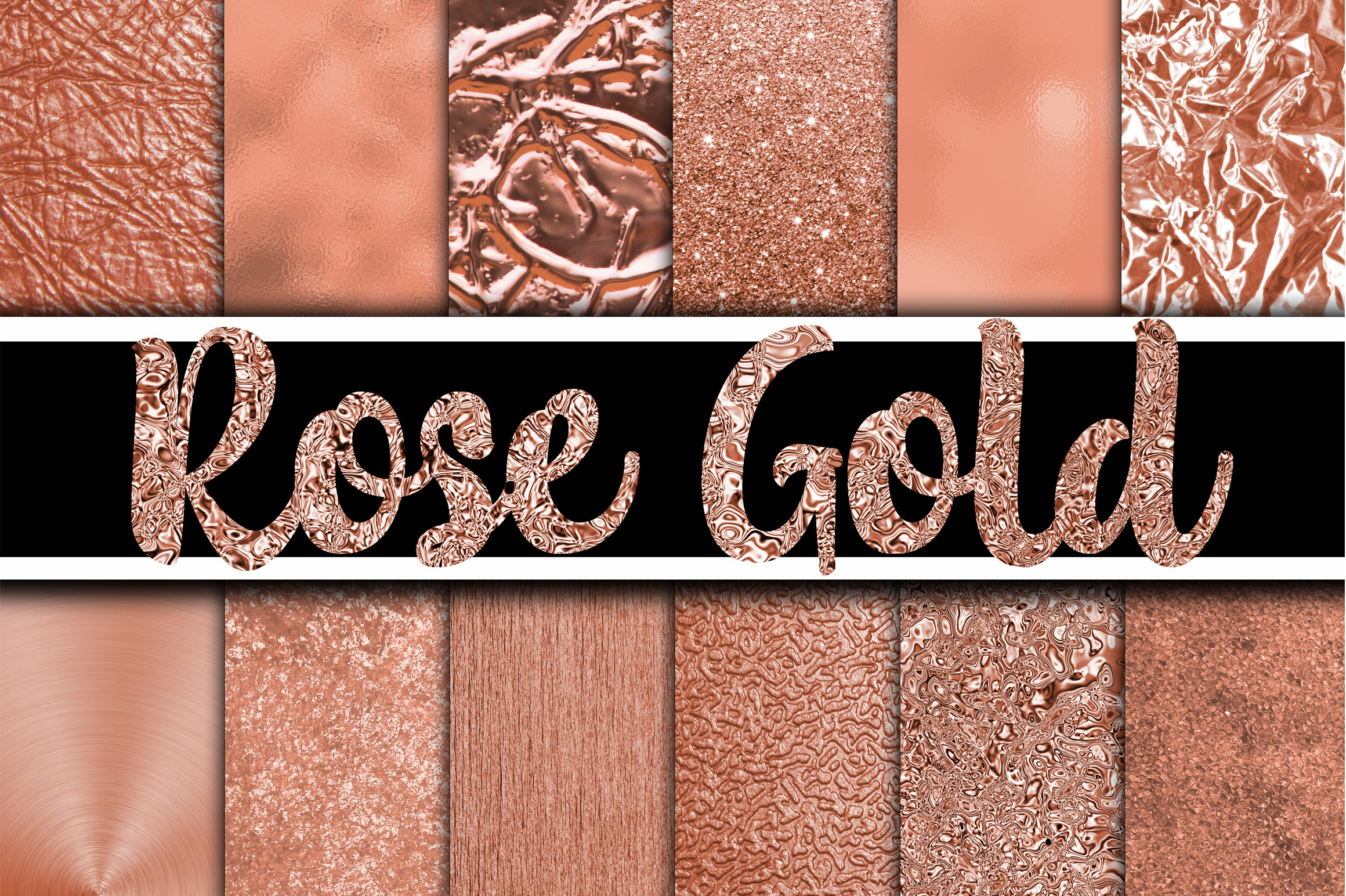 Rose Gold - Gold Digital Paper Textures Graphic Backgrounds By oldmarketdesigns