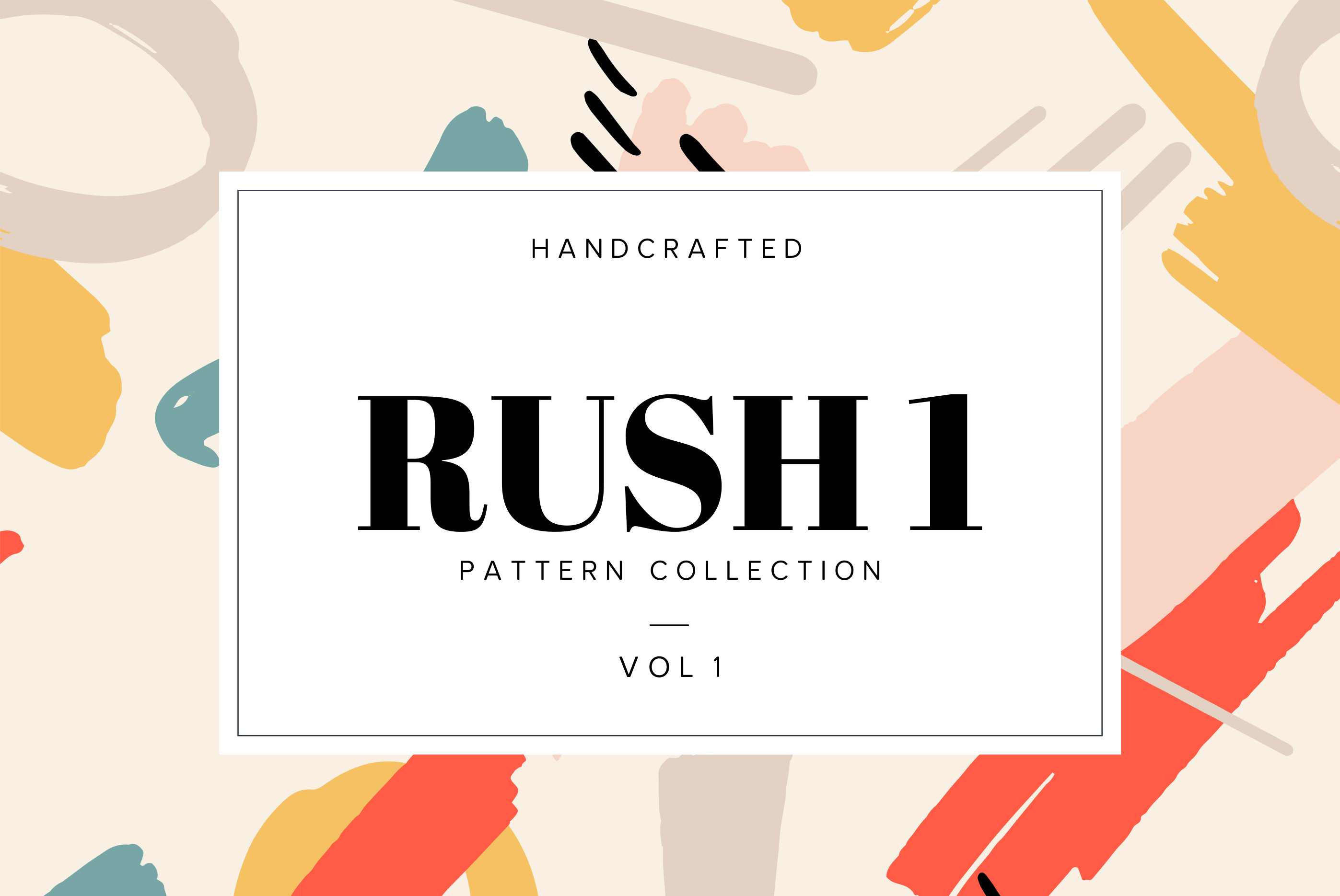 Rush I Handcrafted Pattern Collection Graphic By Spasova