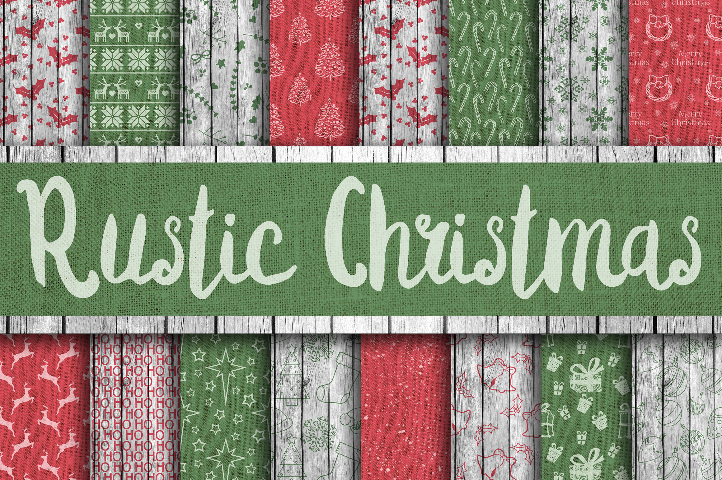 Download Free Rustic Christmas Digital Paper Graphic By Oldmarketdesigns for Cricut Explore, Silhouette and other cutting machines.