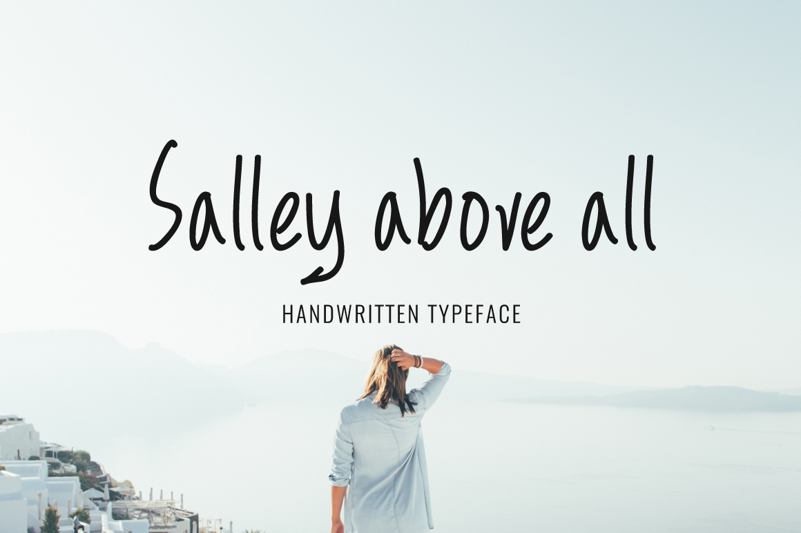 Print on Demand: Salley Above All Script & Handwritten Font By Contour Fonts