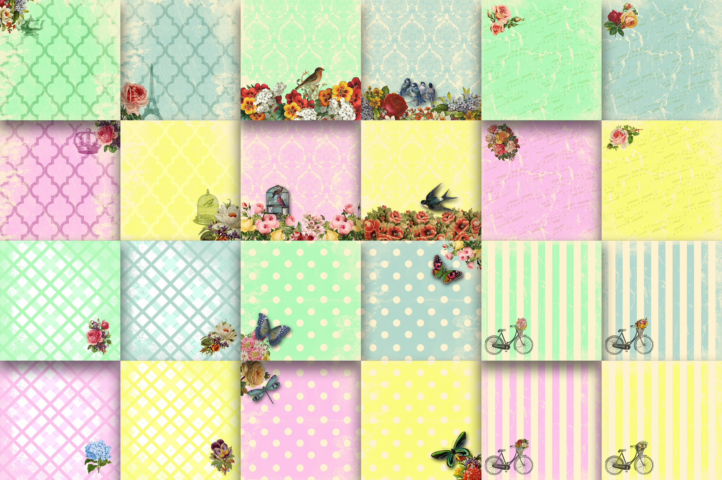Sassy and Chic Digital Papers Graphic Backgrounds By oldmarketdesigns - Image 2