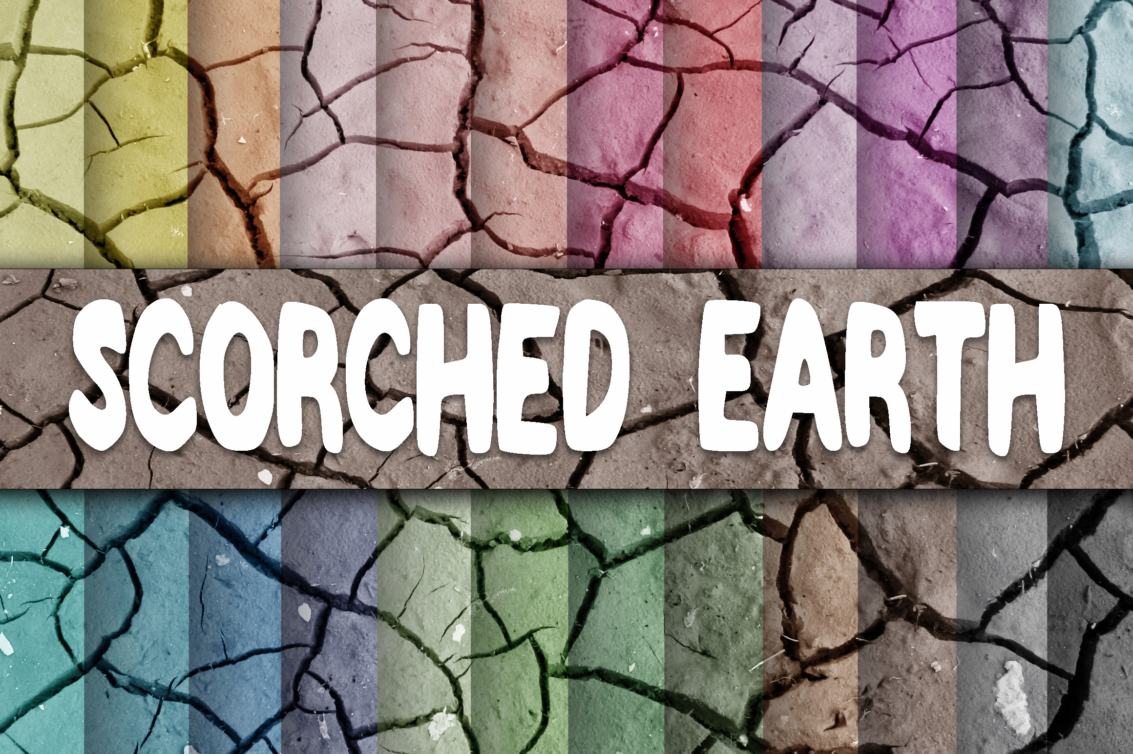Scorched Earth Textures Digital Paper