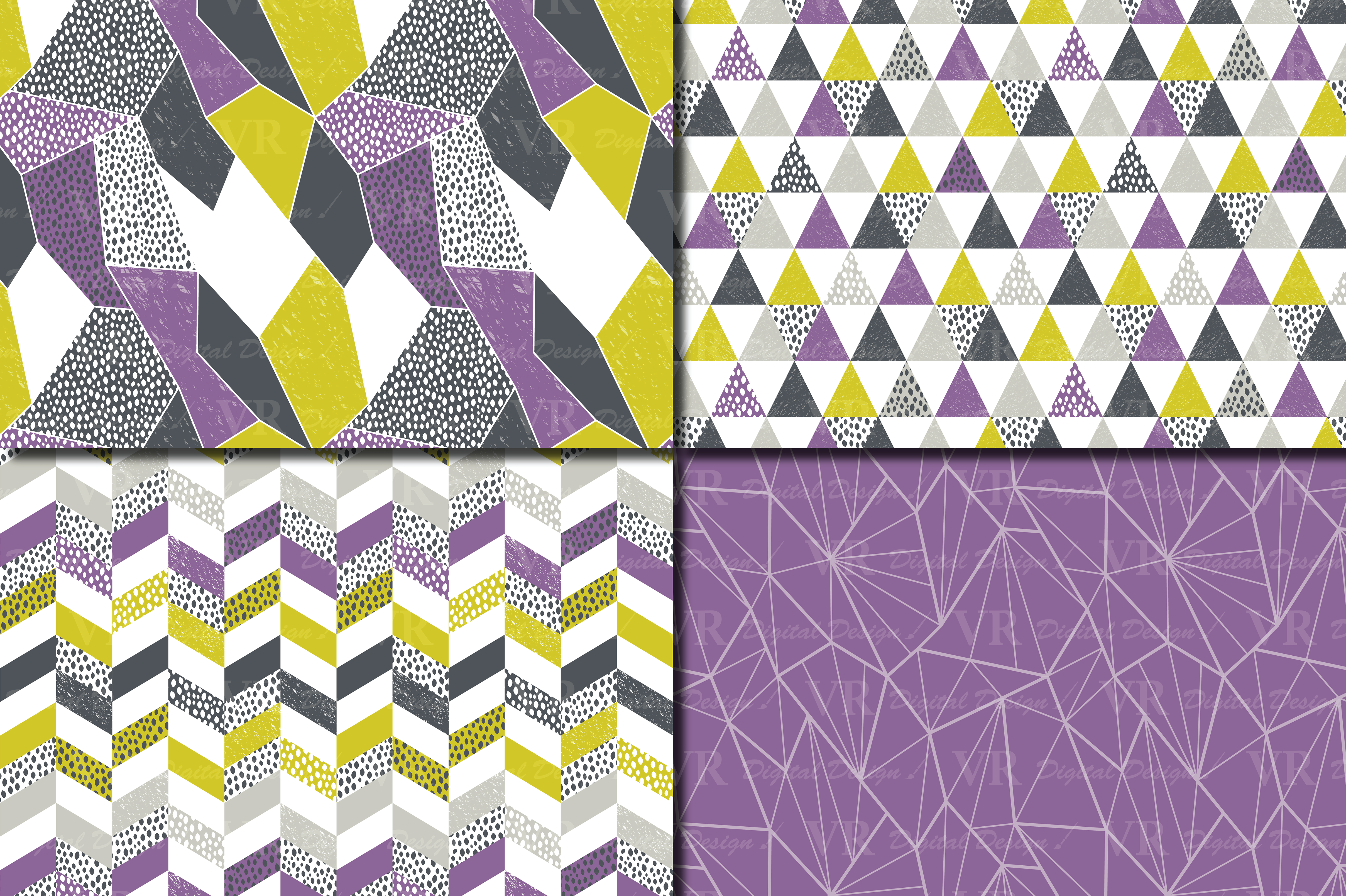 Download Free Seamless Modern Geometric Digital Paper Geometric Patterns for Cricut Explore, Silhouette and other cutting machines.