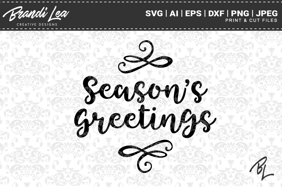 Download Free Season S Greetings Christmas Svg Cut Files Graphic By for Cricut Explore, Silhouette and other cutting machines.