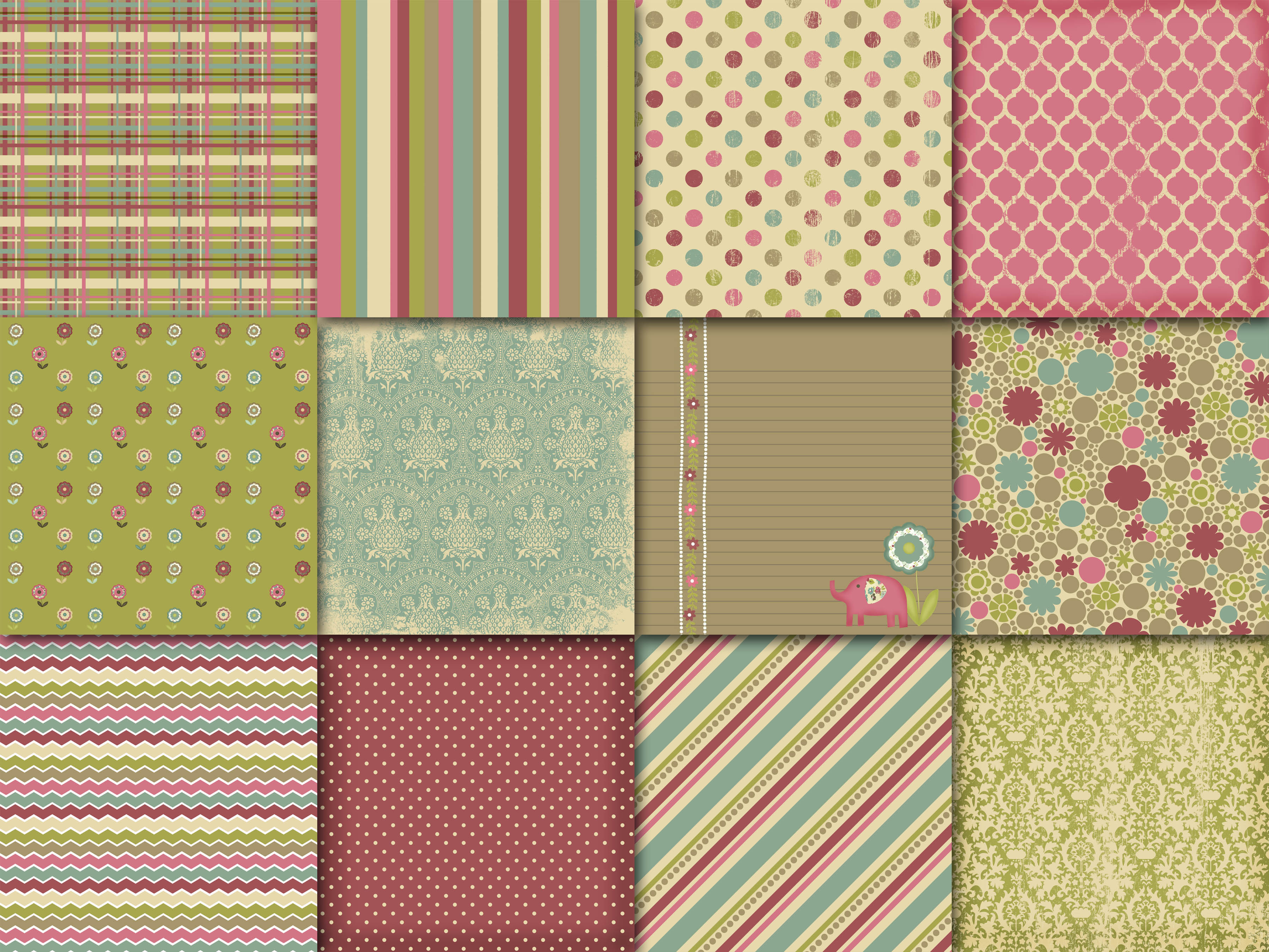 Serendipity Digital Papers Graphic By oldmarketdesigns Image 2