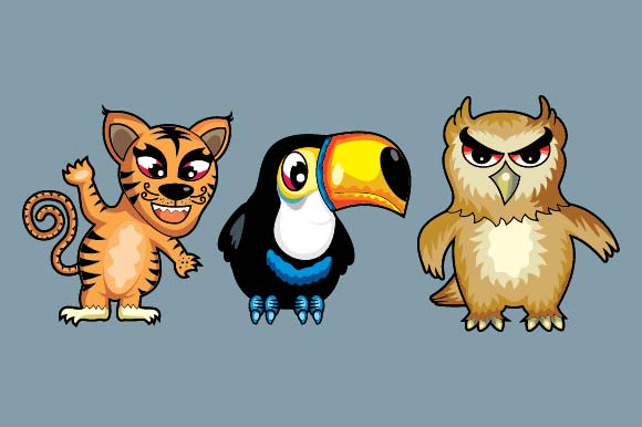 Set of Funny Doodle Animals Graphic Illustrations By emnazar2009 - Image 3