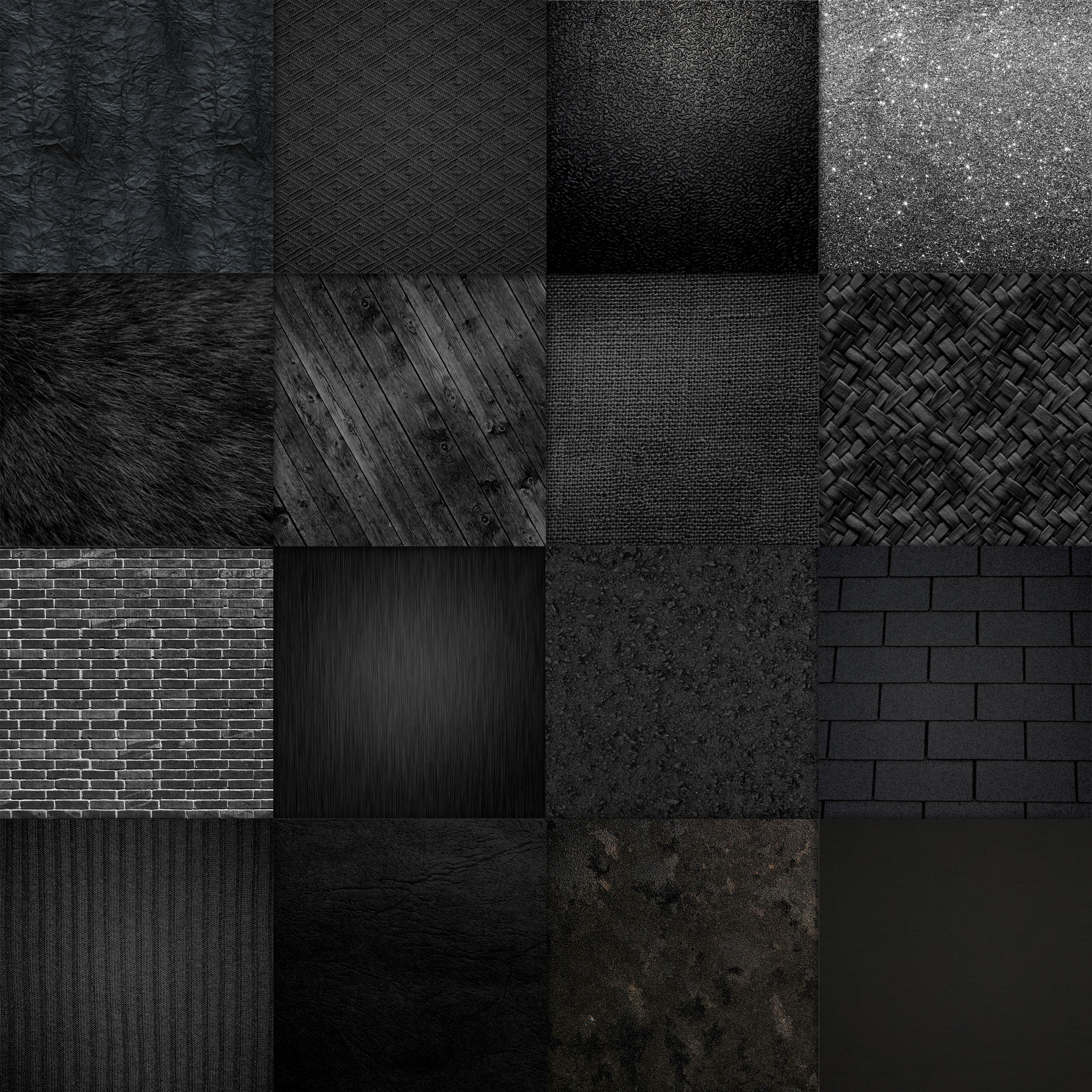 Print on Demand: Shades of Black Digital Paper Textures Graphic Backgrounds By oldmarketdesigns - Image 2