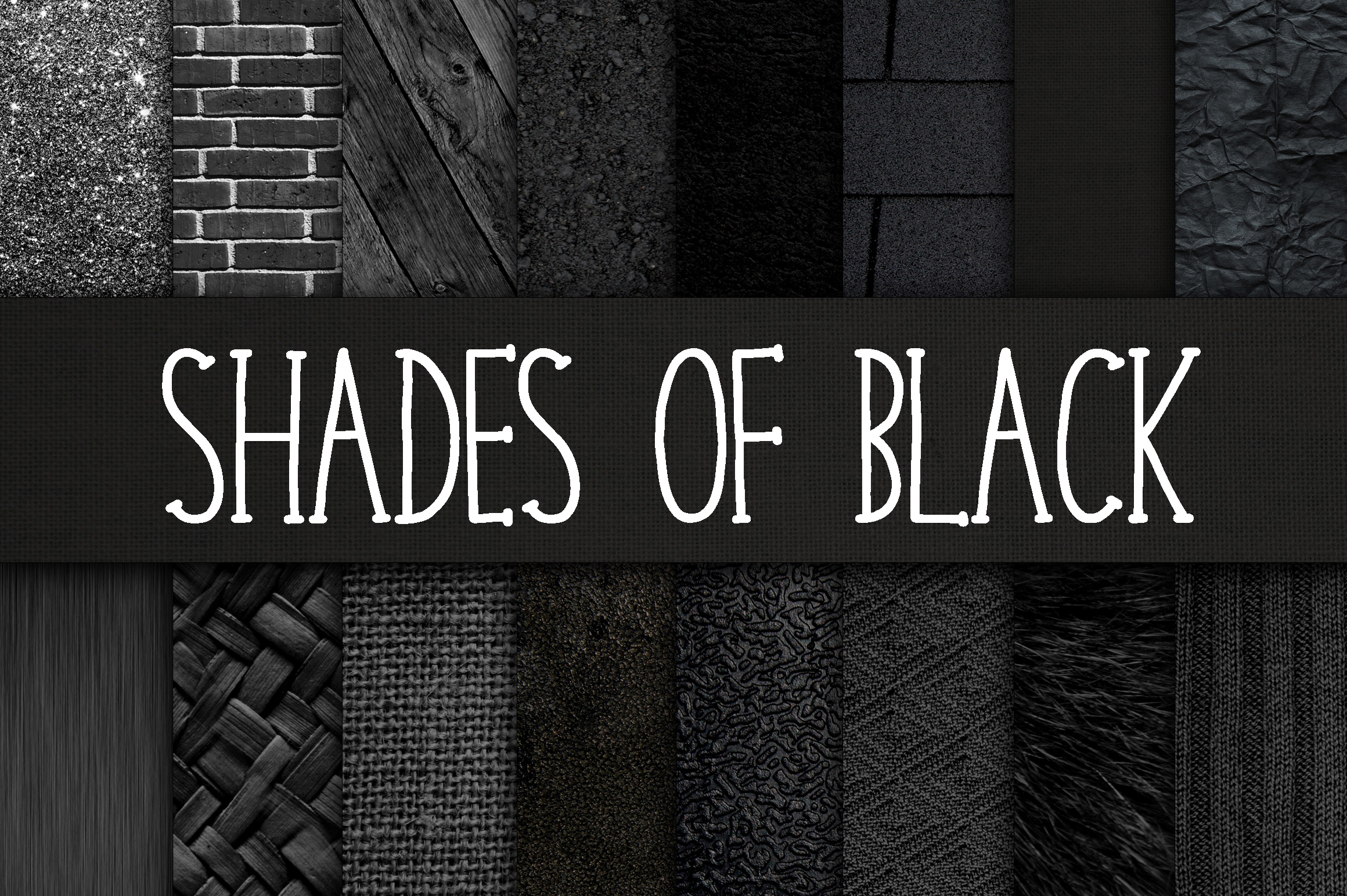 Print on Demand: Shades of Black Digital Paper Textures Graphic Backgrounds By oldmarketdesigns