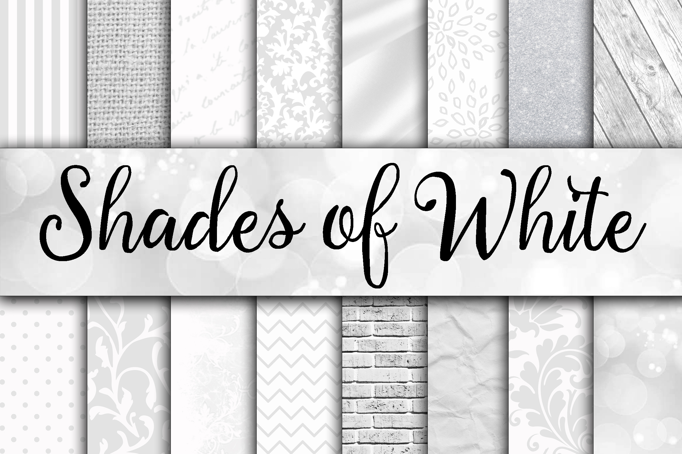 Print on Demand: Shades of White Digital Paper Textures Graphic Backgrounds By oldmarketdesigns