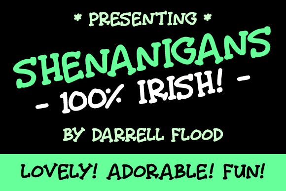 Print on Demand: Shenanigans Script & Handwritten Font By Dadiomouse
