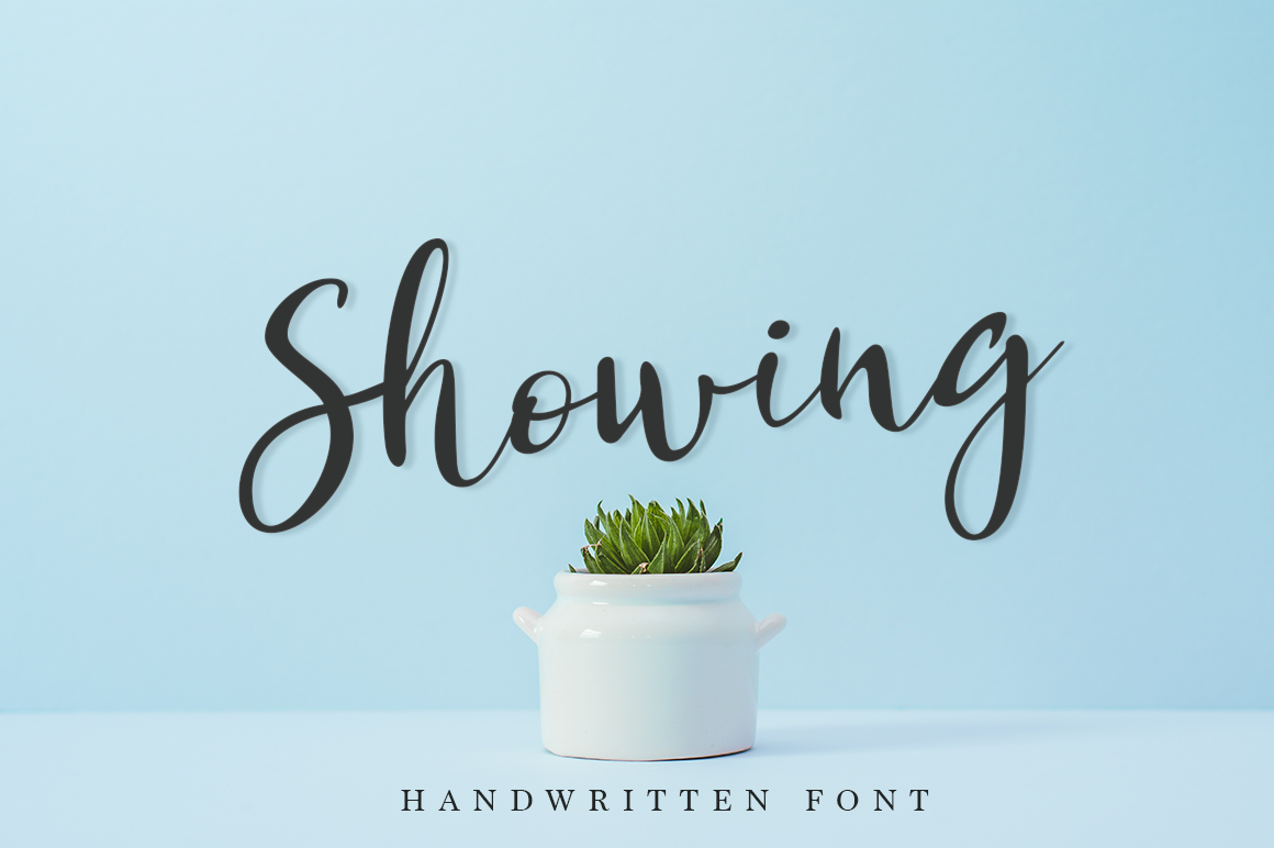 Print on Demand: Showing Script & Handwritten Font By Pasha Larin