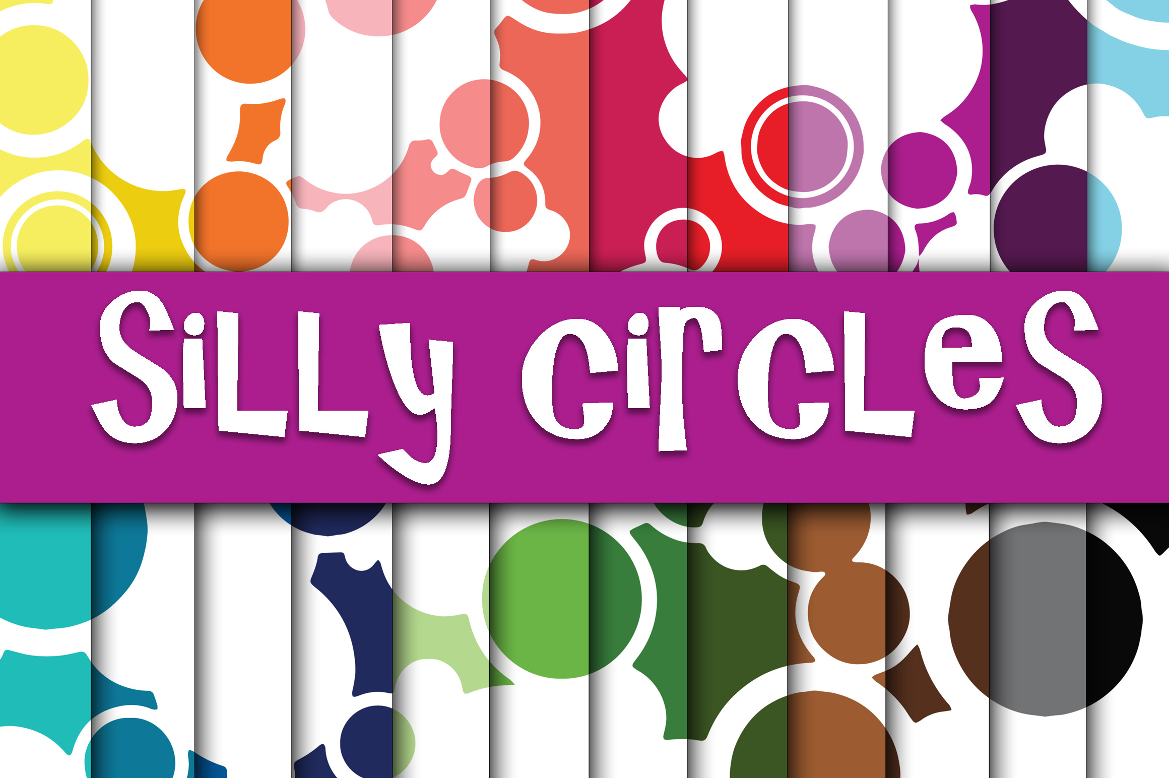 Silly Circles Digital Paper Graphic Backgrounds By oldmarketdesigns