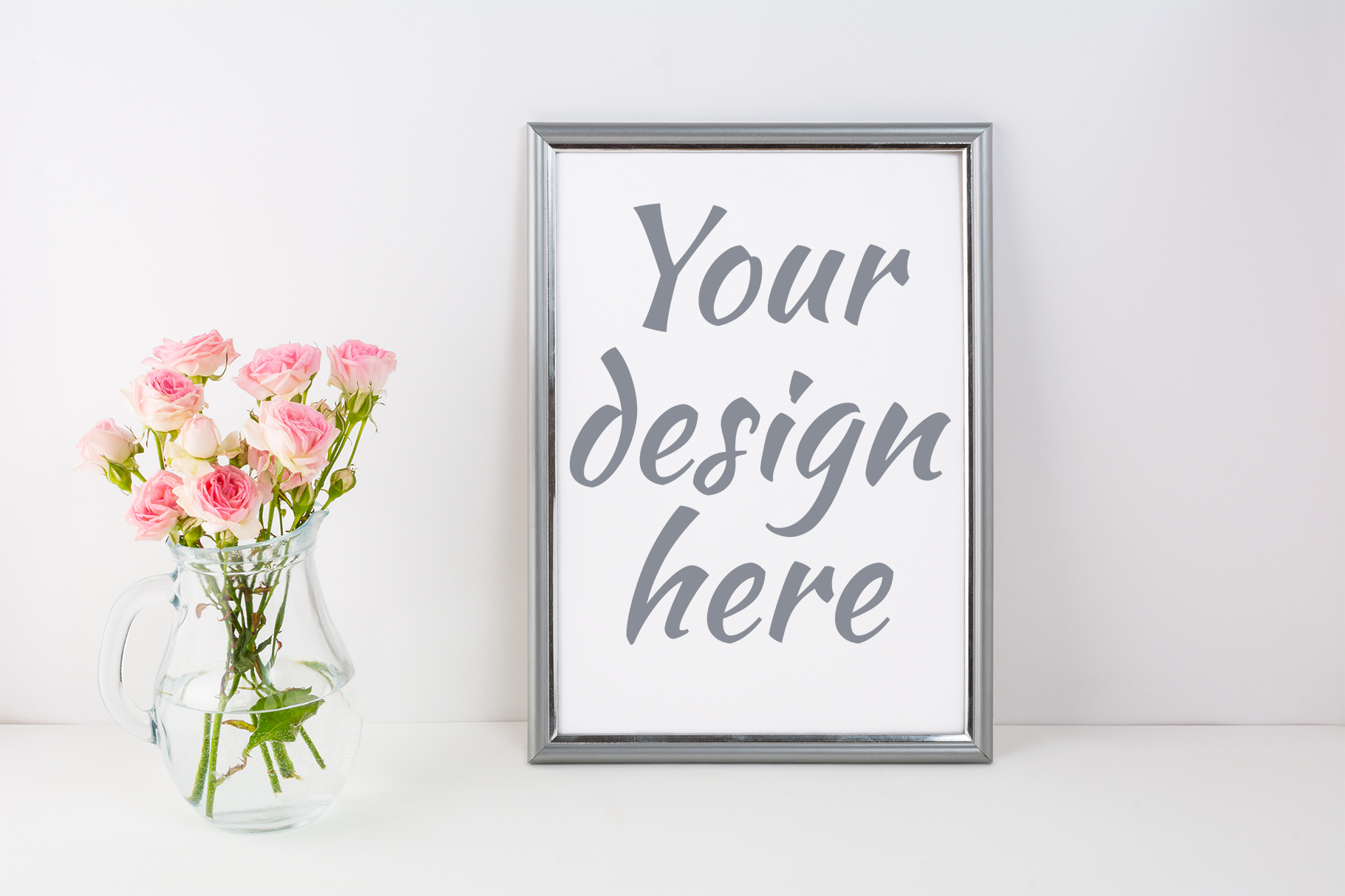 Print on Demand: Silver Frame Mockup Graphic Product Mockups By TasiPas