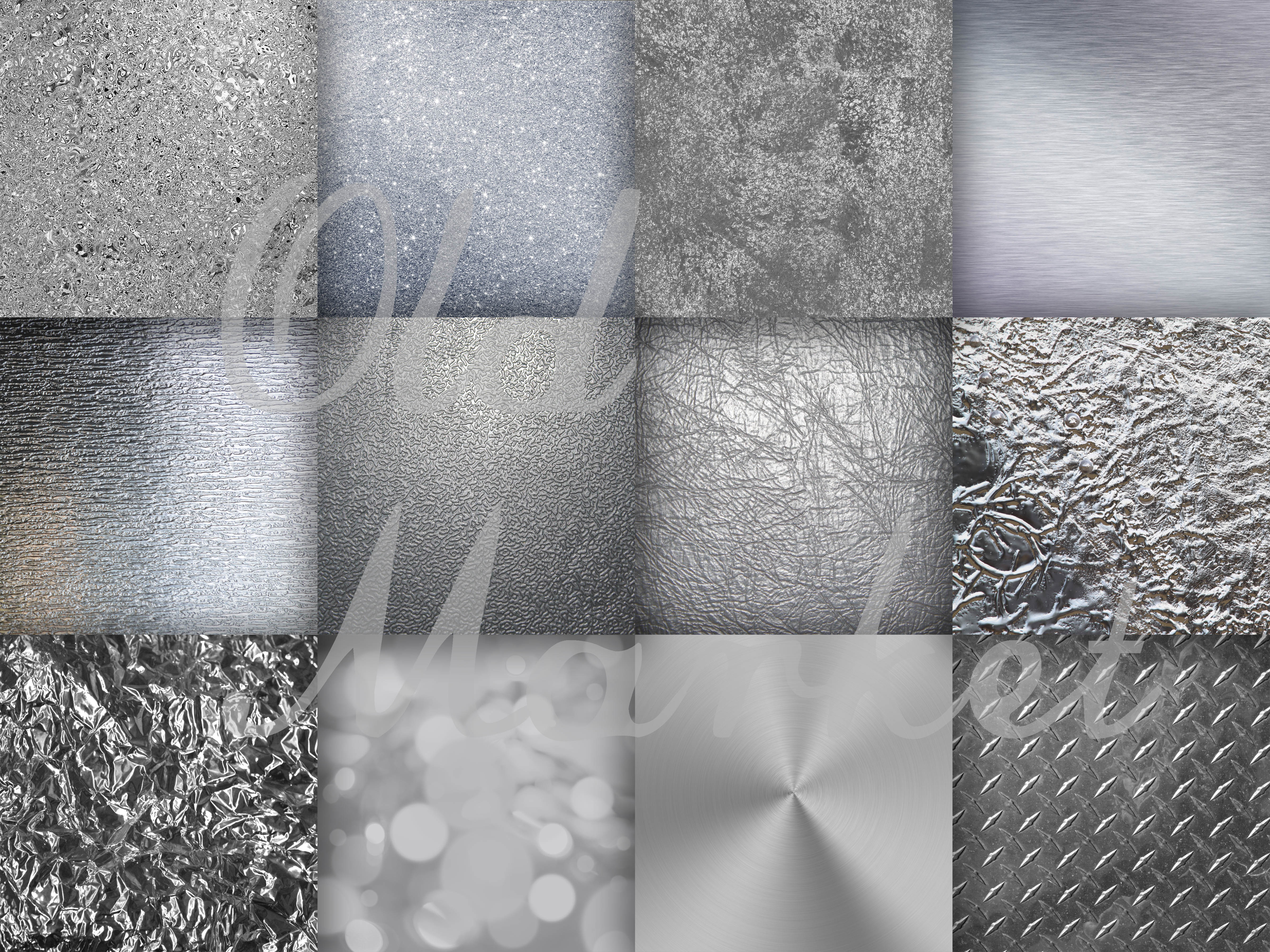 Silver Streak - Silver Digital Paper Textures Graphic By oldmarketdesigns Image 2
