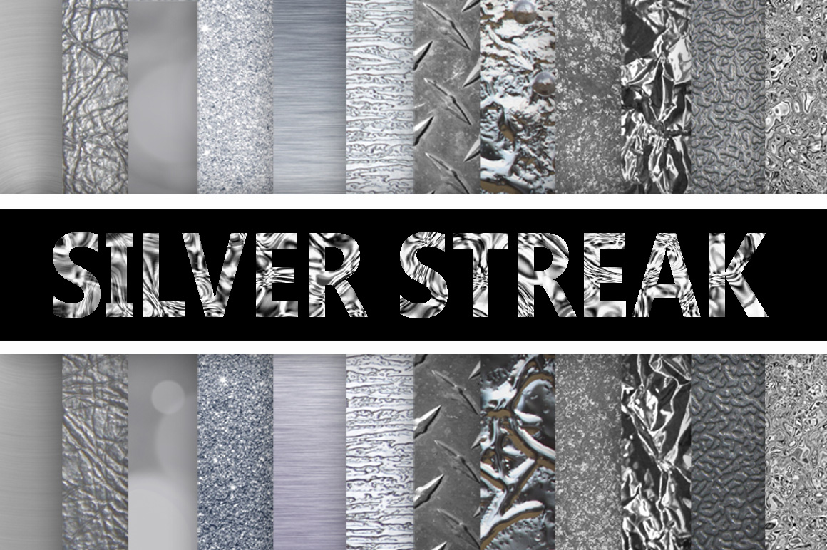 Print on Demand: Silver Streak - Silver Digital Paper Textures Graphic Textures By oldmarketdesigns