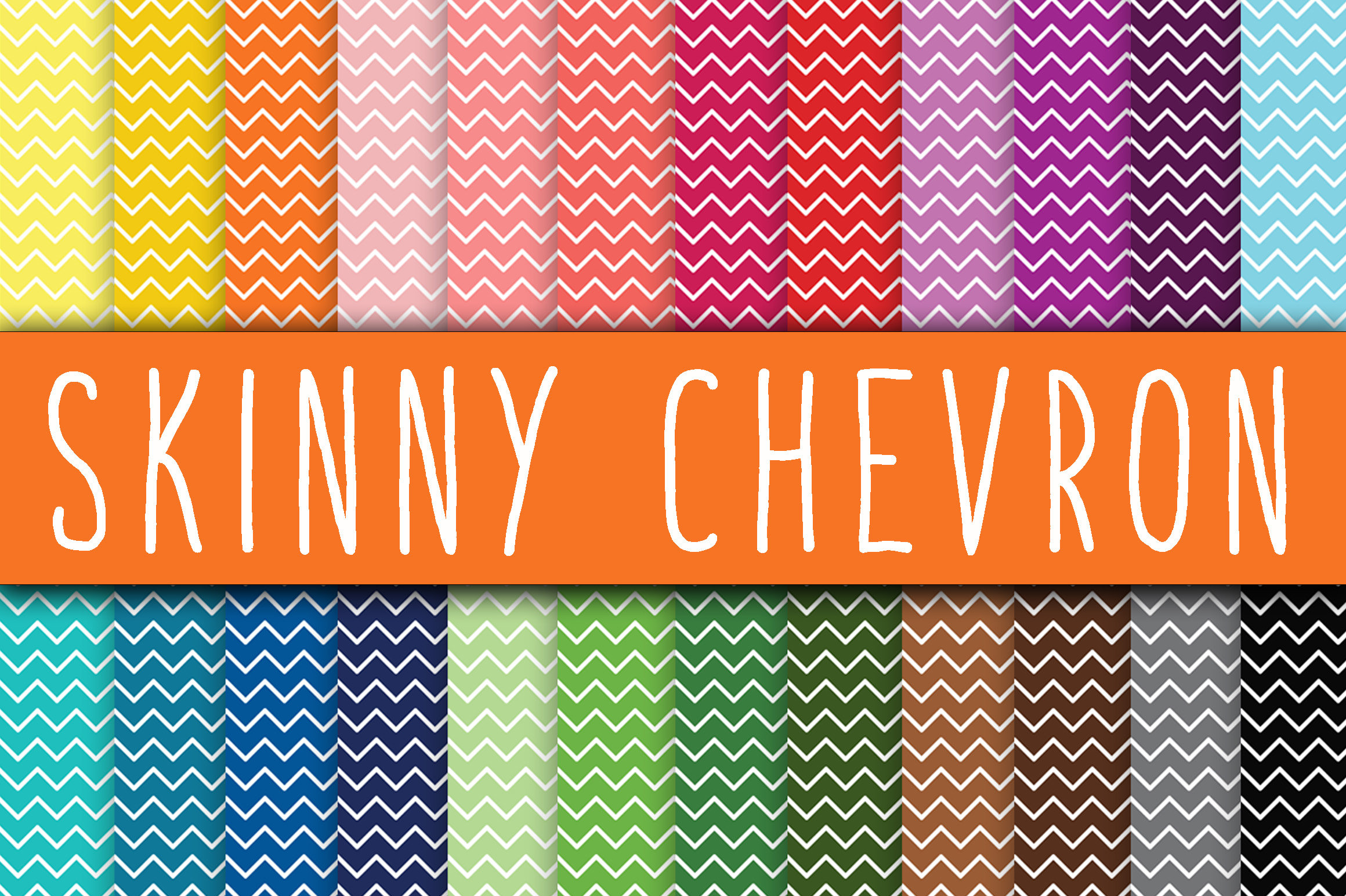 Skinny Chevron Digital Paper Graphic Backgrounds By oldmarketdesigns