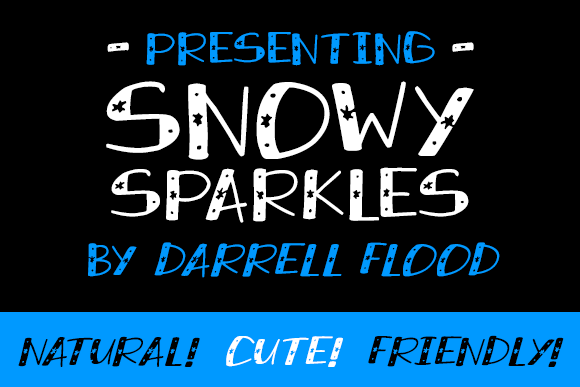 Print on Demand: Snowy Sparkles Display Font By Dadiomouse - Image 1