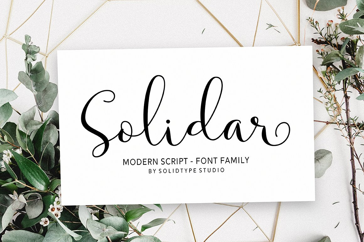 Print on Demand: Solidar Script & Handwritten Font By Solidtype - Image 1