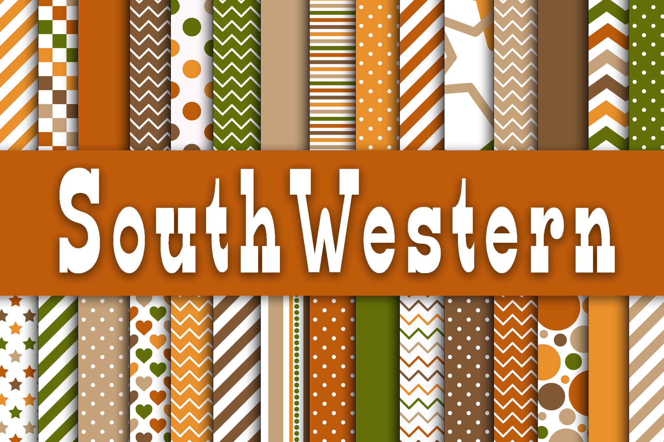 SouthWestern Digital Paper Graphic By oldmarketdesigns Image 1