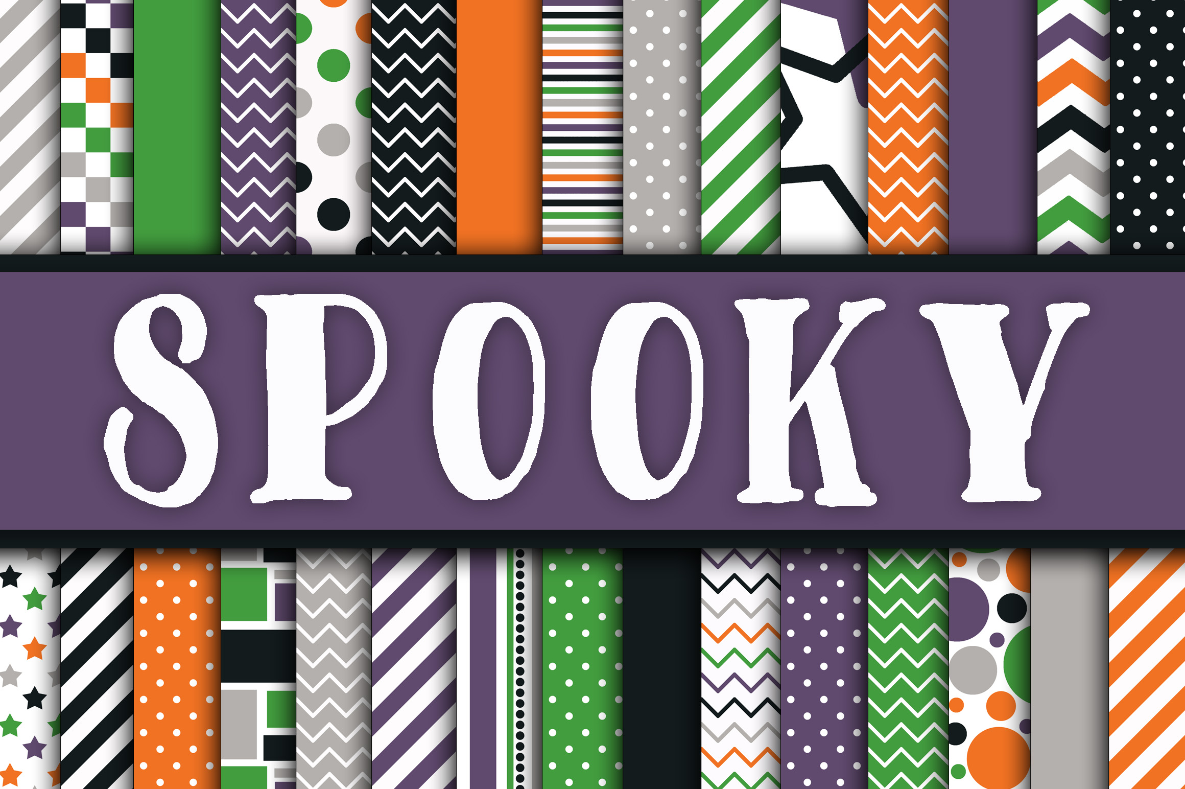 Spooky Digital Papers Graphic By oldmarketdesigns Image 1