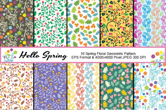 Spring Floral Geometric Pattern Graphic By emnazar2009