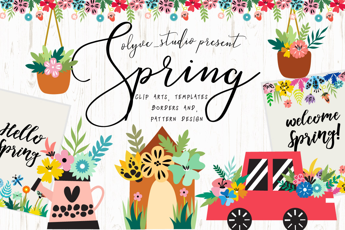 Spring Tool Kit Graphic Objects By Caoca Studios