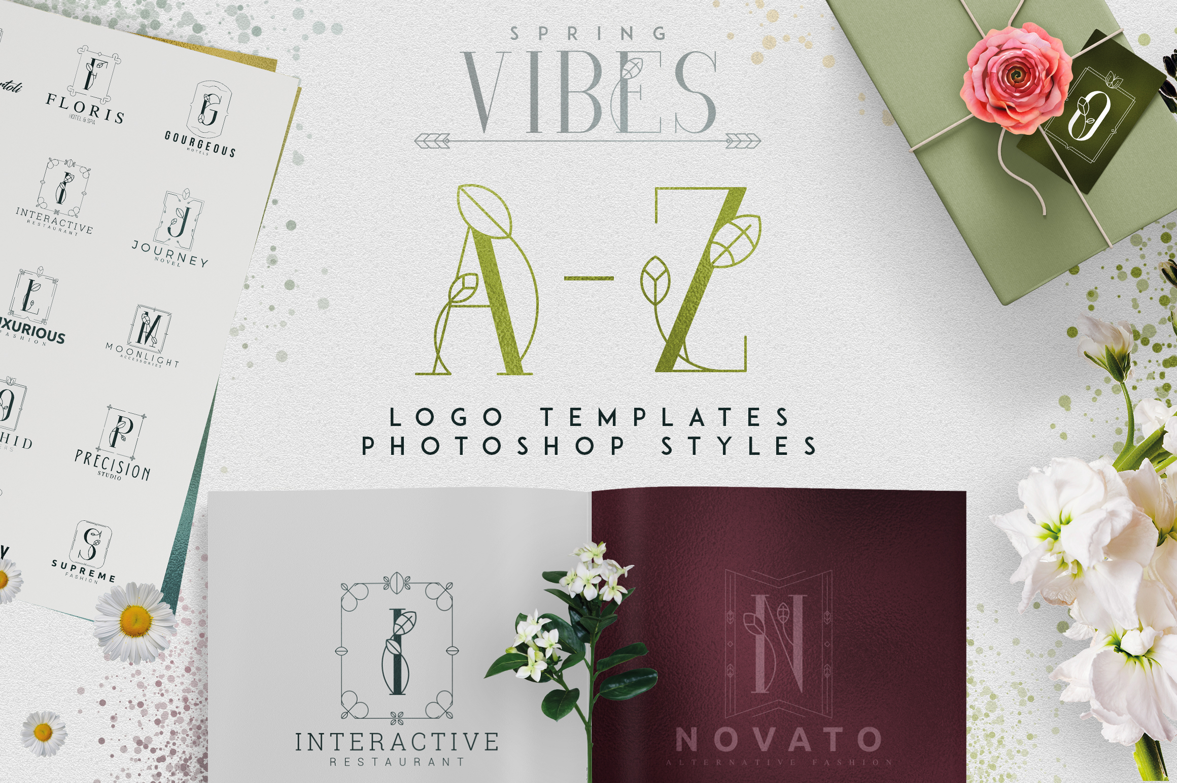 Print on Demand: Spring Vibes - a-Z Logo Designs Graphic Logos By vladfedotovv
