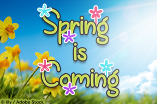 Spring is Coming Font By Misti