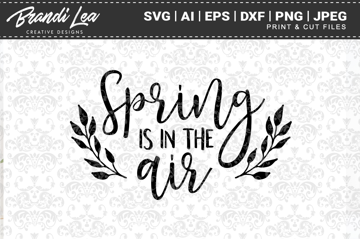 Download Free Spring Is In The Air Svg Cut Files Graphic By Brandileadesigns for Cricut Explore, Silhouette and other cutting machines.