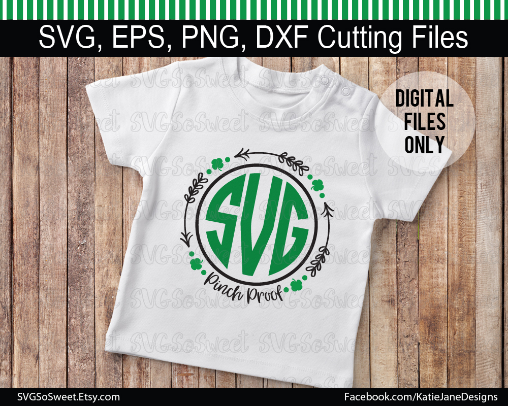 St Patricks Day Monogram Bundle - Graphic Graphic Crafts By Southern Belle Graphics - Image 2