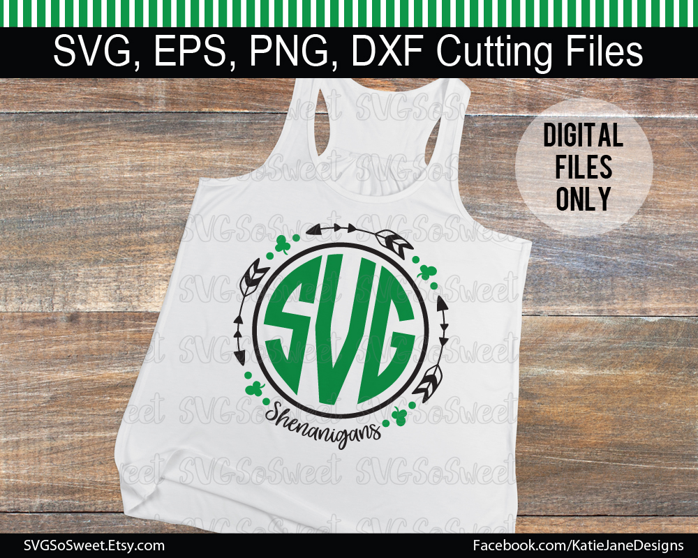 St Patricks Day Monogram Bundle - Graphic Graphic Crafts By Southern Belle Graphics - Image 3
