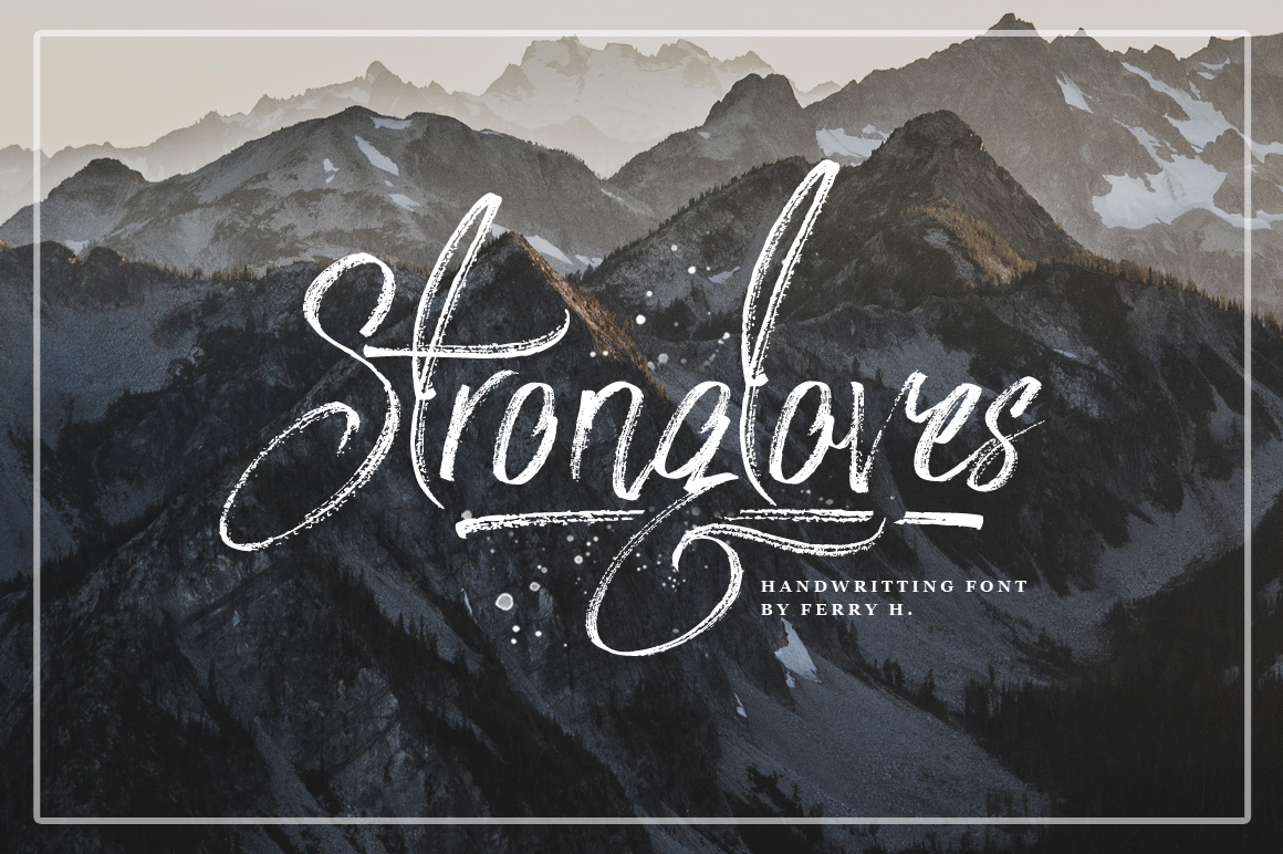 Print on Demand: Strongloves Script & Handwritten Font By feydesign
