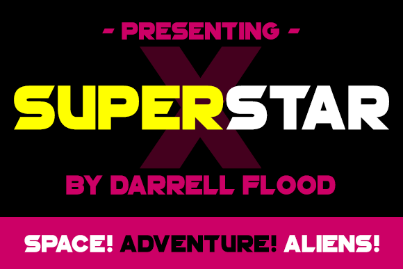 Print on Demand: Superstar X Sans Serif Font By Dadiomouse