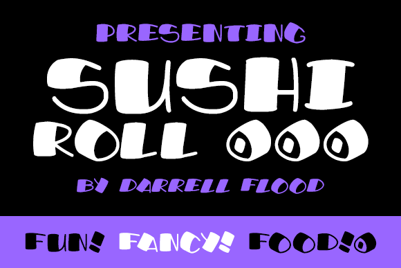 Print on Demand: Sushi Roll Display Font By Dadiomouse