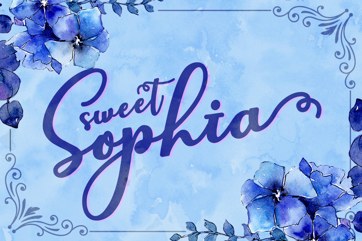 Print on Demand: Sweet Sophia Script & Handwritten Font By No Gravity Type