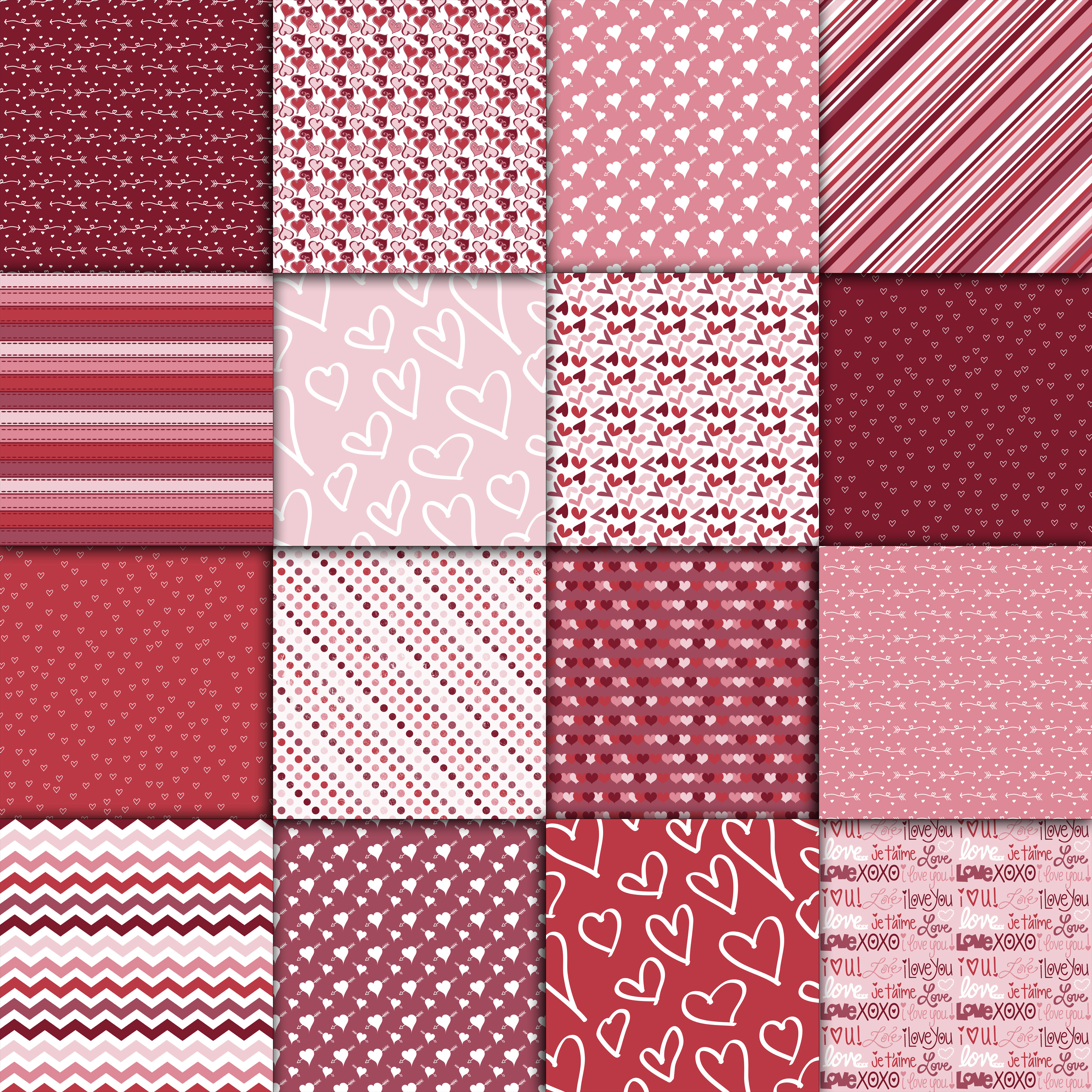 Sweet Valentine Digital Paper Graphic By oldmarketdesigns Image 2