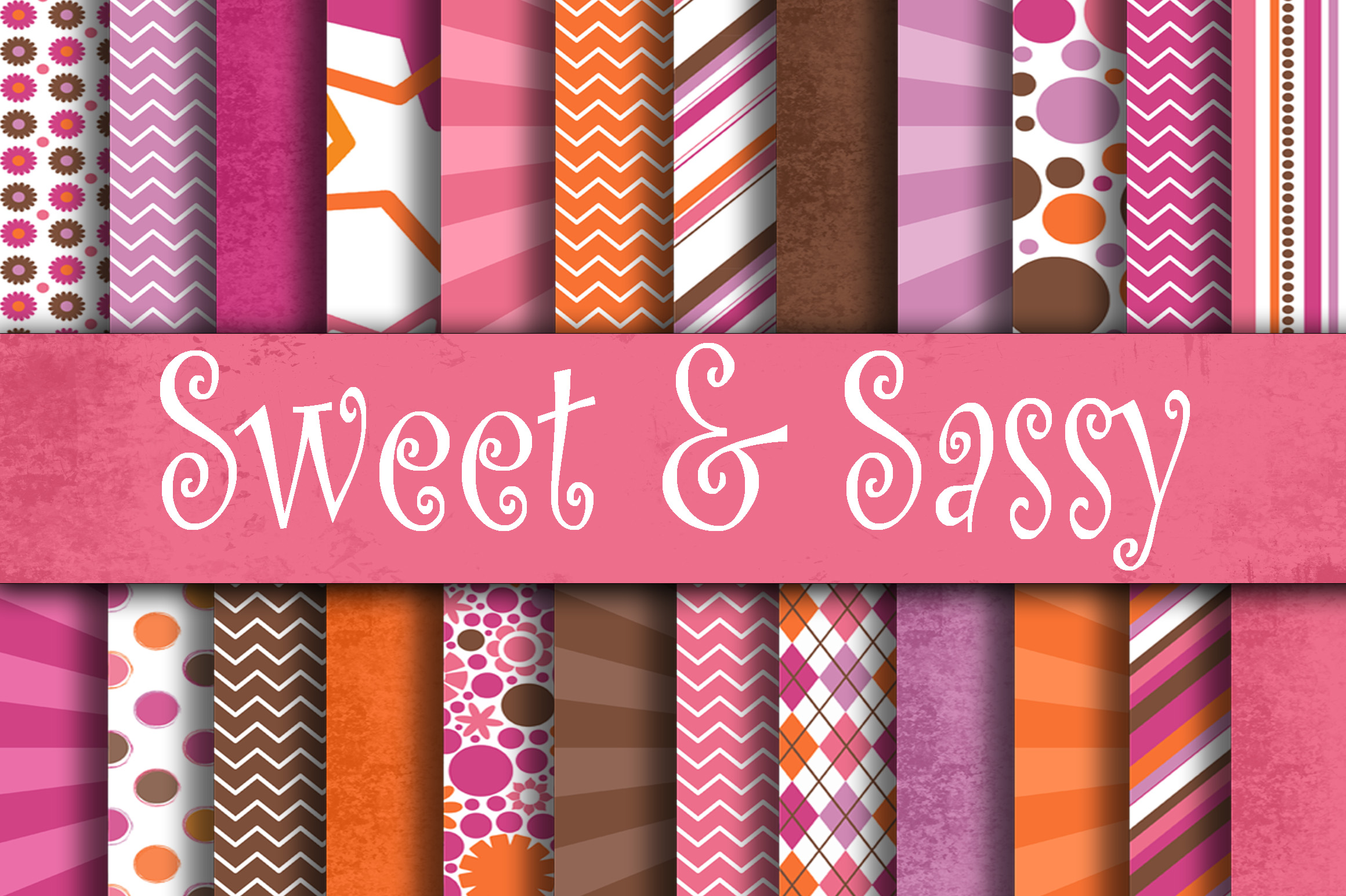 Sweet and Sassy Digital Paper Pack Graphic Backgrounds By oldmarketdesigns