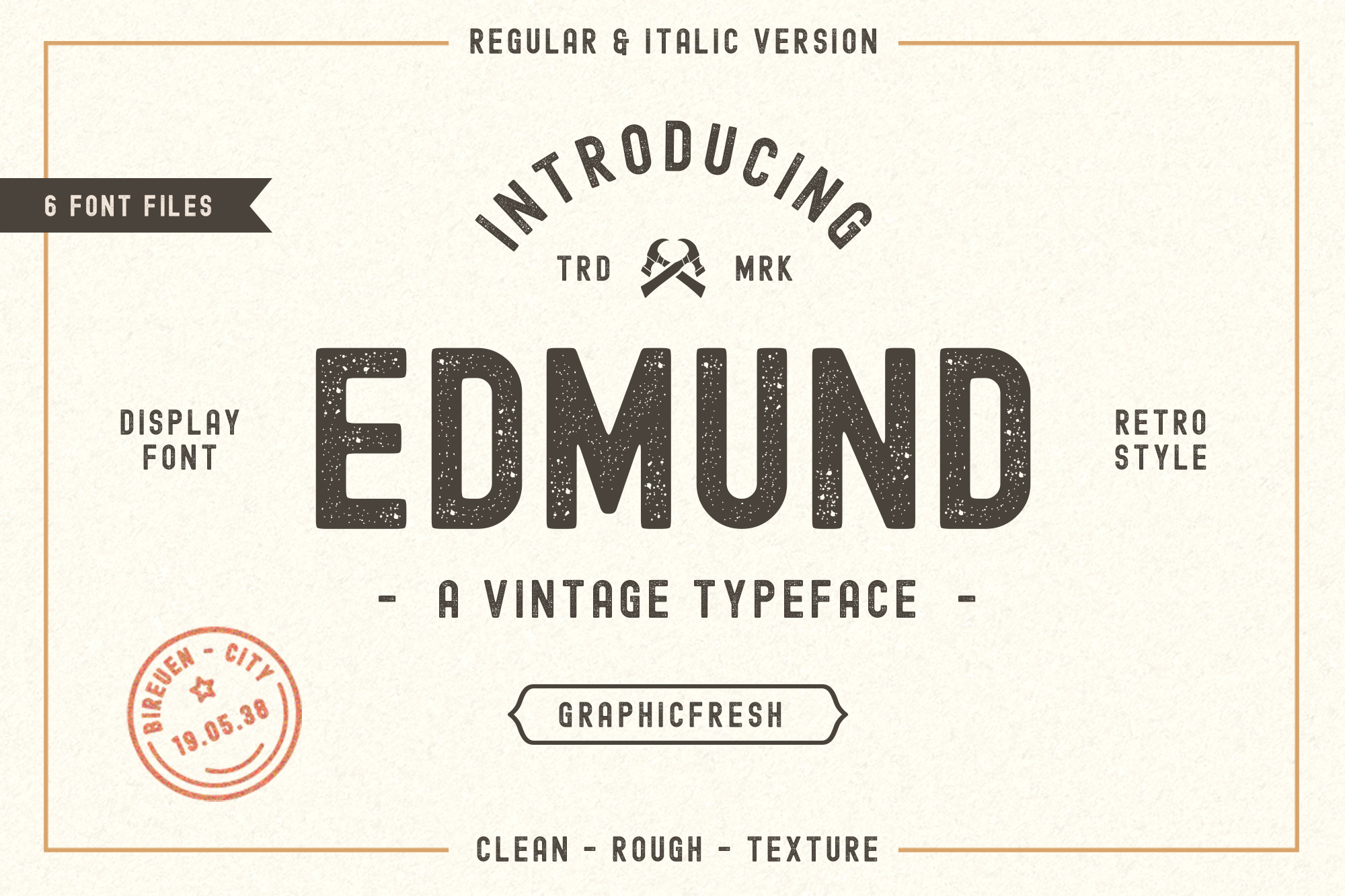Print on Demand: The Edmund Display Font By Graphicfresh