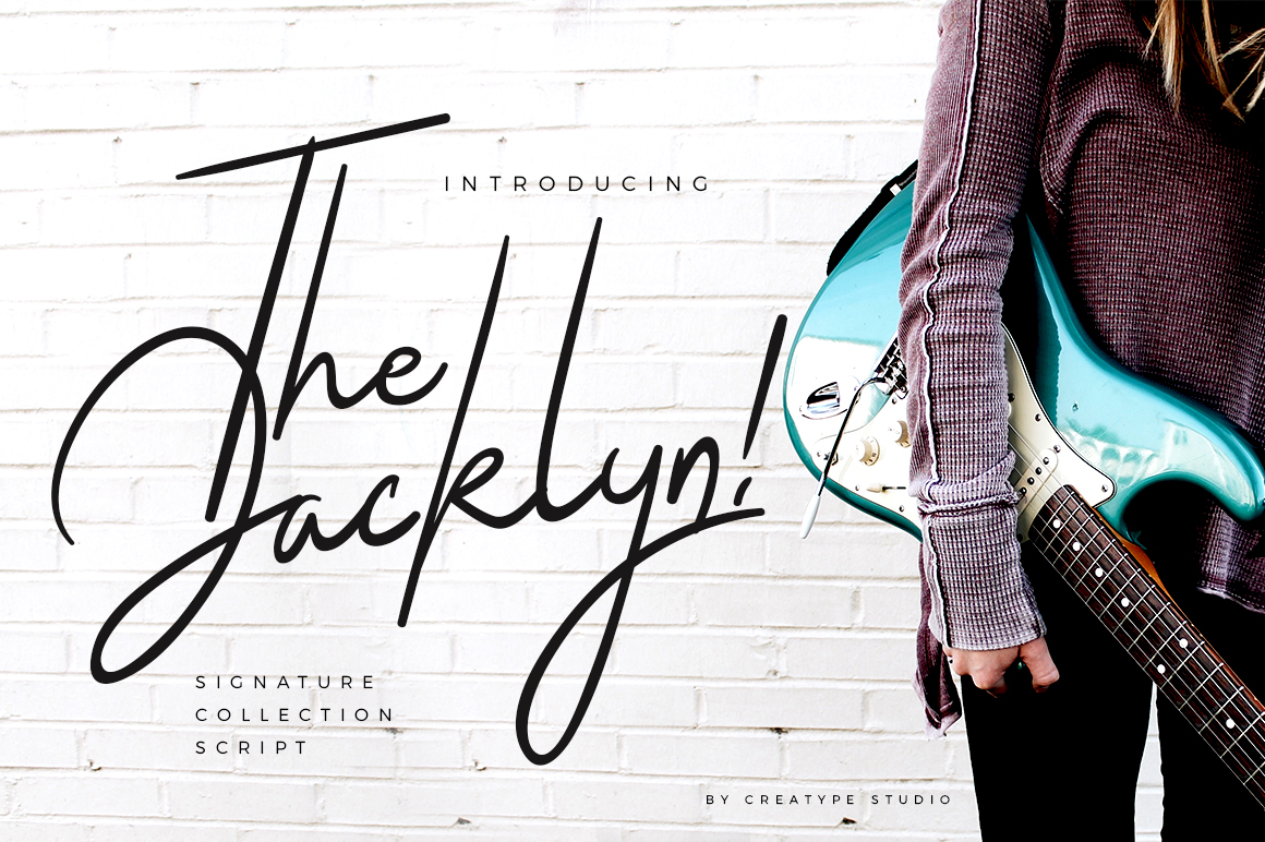 Print on Demand: The Jacklyn Script & Handwritten Font By CreatypeStudio