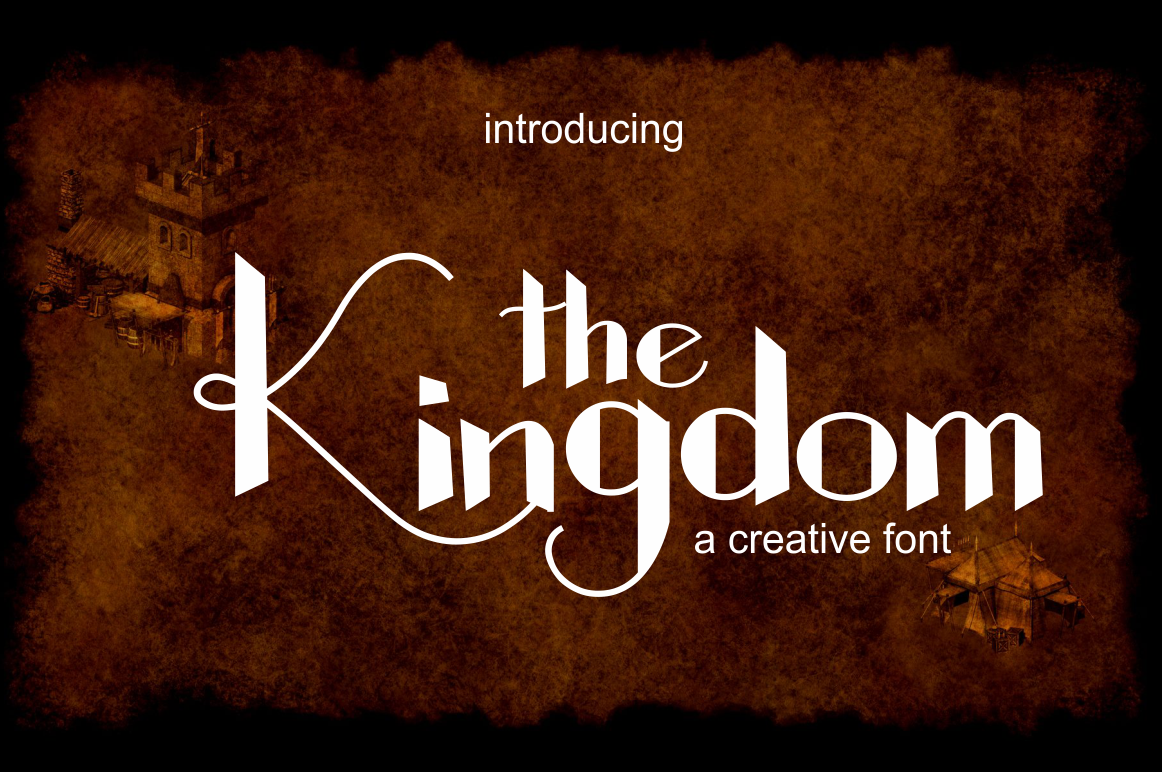 Print on Demand: The Kingdom Display Schriftarten von screen letter