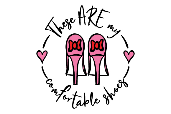 Download Free These Are My Comfortable Shoes Svg Cut File By Creative Fabrica for Cricut Explore, Silhouette and other cutting machines.