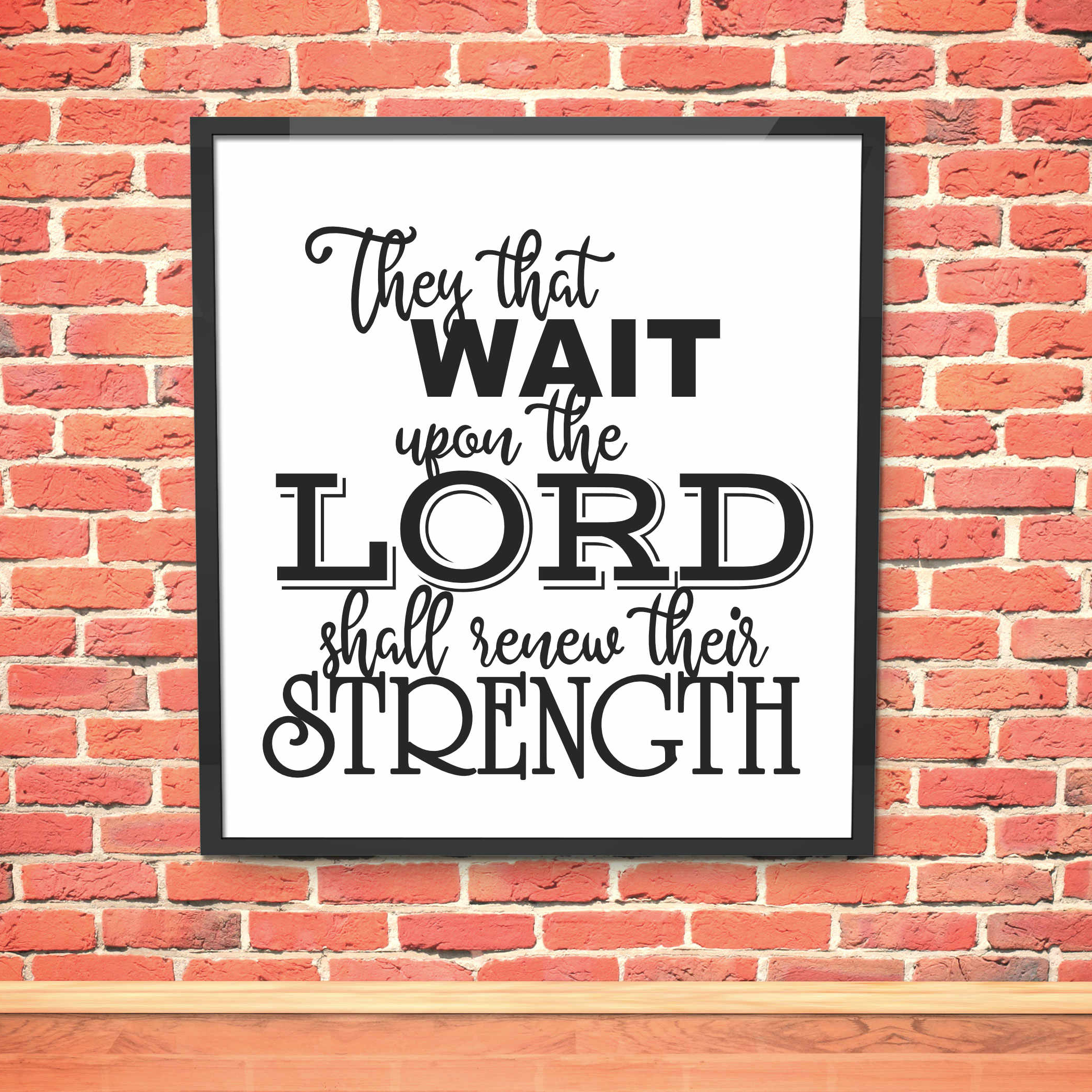 Download Free They That Wait Upon The Lord Cut File Svg Graphic By All Things SVG Cut Files